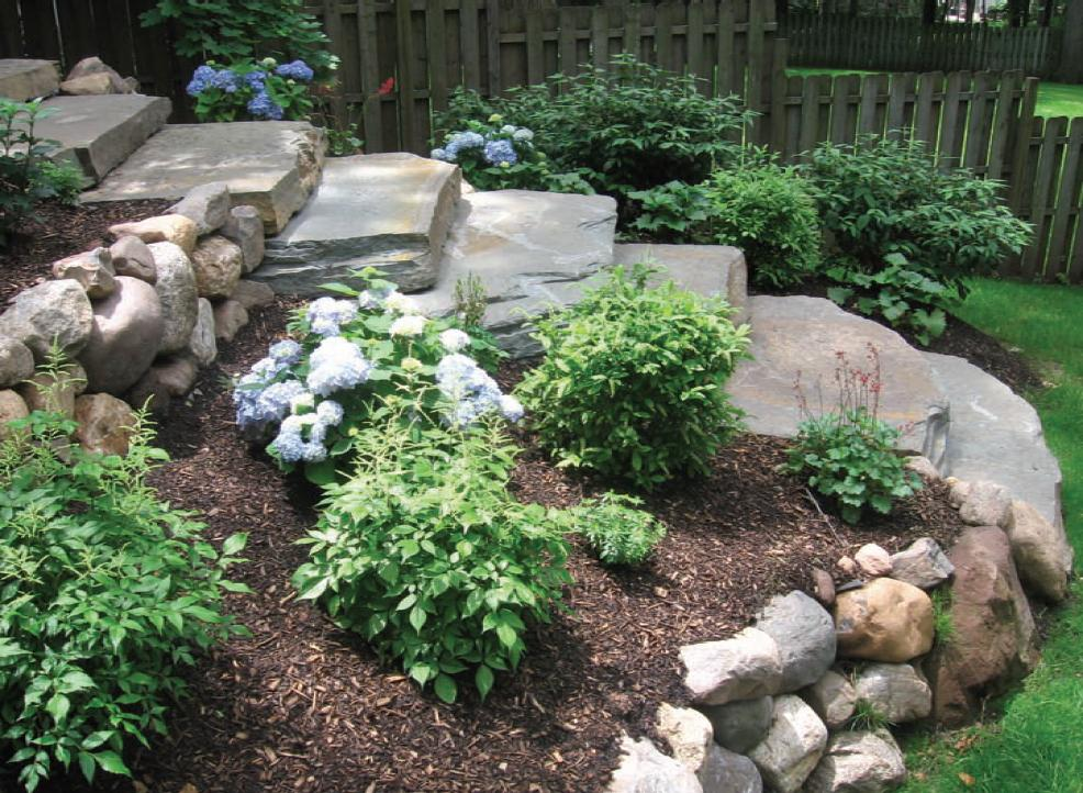 Ideas 4 landscaping green articles for Garden idea with stones